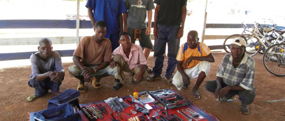 Reparaturworkshop Ghana