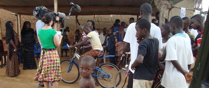Doku-Dreh über unser Fahrradprojekt mit ProLink Ghana